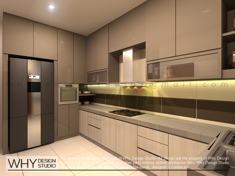 Kampar double storey terrace renof gallery for Terrace kitchen design