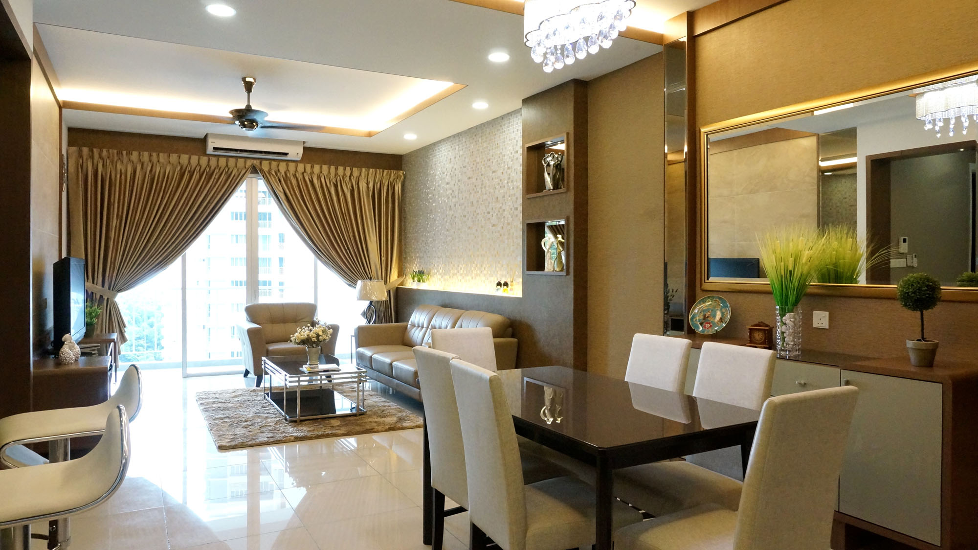 Surin condominium show unit renof gallery for Interior designs for condo units