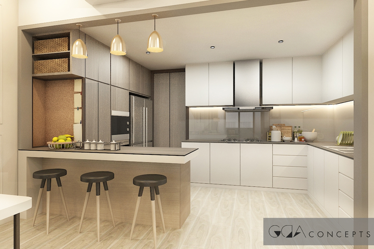 Condo seri riana residences elegant scandinavian for Elegant residences kitchens