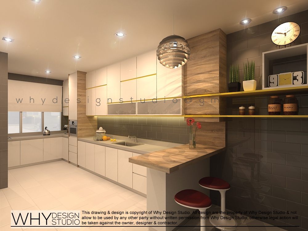 Taman desa double storey terrace renof gallery for Terrace kitchen design