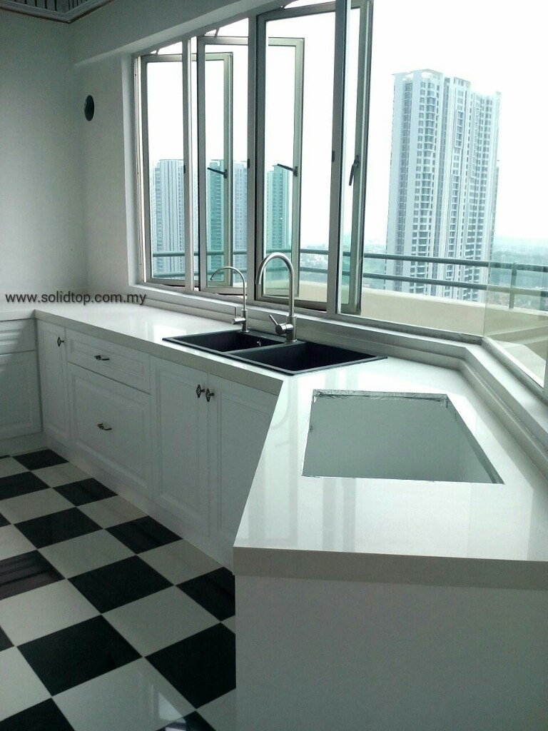 Solid top sdn bhd renof find a professional for Quartz kitchen platform